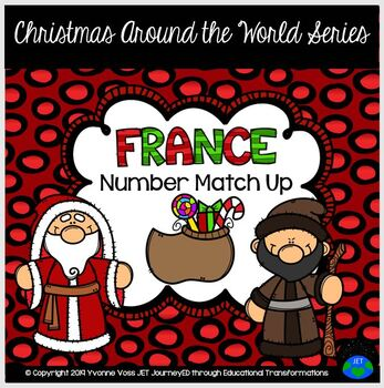 Christmas Around the World France Number Match Up