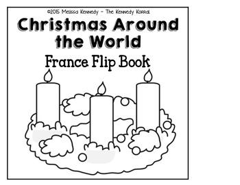 Christmas Around the World - France - {Flip Book}