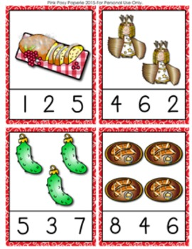 Christmas Around the World Germany Count and Clip Cards Numbers 1-12