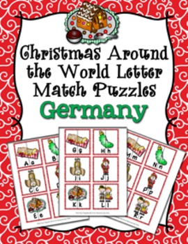 Christmas Around the World Germany Letter Match Puzzles