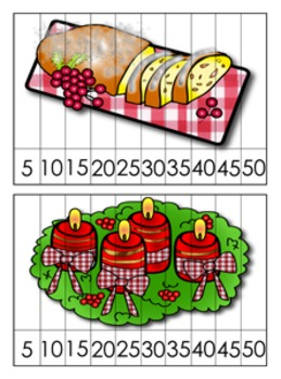 Christmas Around the World Germany Number Counting Puzzles - Skip by 5