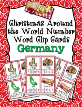 Christmas around the world germany number words clip cards by pink christmas around the world germany number words clip cards m4hsunfo