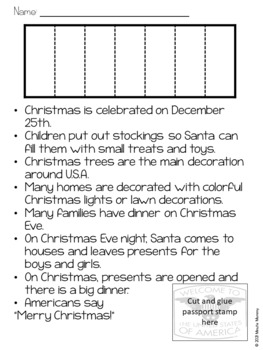 Christmas Around the World: USA Scrapbook