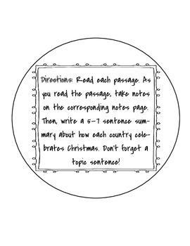 Christmas Around the World!! (Grades 3 - 6)