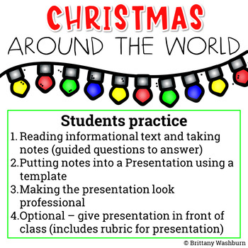 Christmas Around the World Guided Research Project