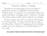 Christmas Around the World Handwriting Practice