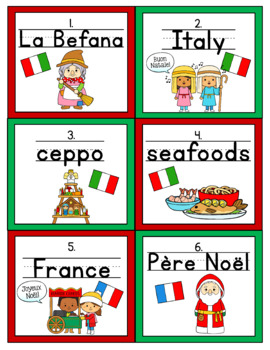 Christmas Around the World Handwriting Scoot and/or Write the Room