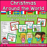 Christmas Around the World Handwriting Scoot and/or Write