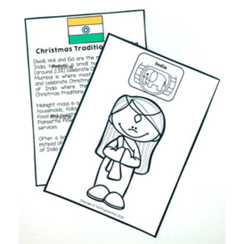 Christmas Around the World INDIA Maps Flags Information Cards and Recipe