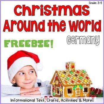 Christmas Around the World Interactive Notebook Free Sample