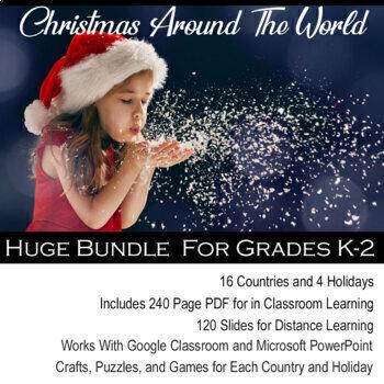 Christmas Around the World Interactive Notebook K-2