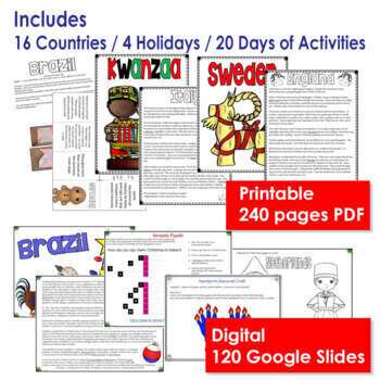 Christmas Around the World Activities and Informational Texts