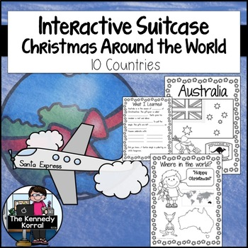 Christmas Around the World SUITCASE {Flag, Map, Foods, Cra