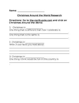Christmas Around the World Internet Research