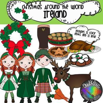 Christmas Around the World- Ireland Clip Art