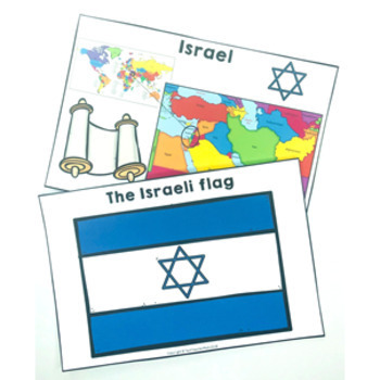 Christmas Around the World ISRAEL HANUKKAH map traditions food flags