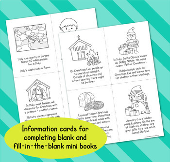 Christmas Around the World - Italy Differentiated Mini Book