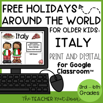 Christmas Around the World: Italy Freebie for 3rd - 6th Grade