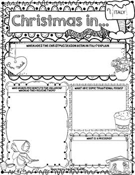 Christmas Around the World Italy Scrapbook
