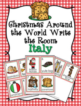 Christmas Around the World Italy Write the Room