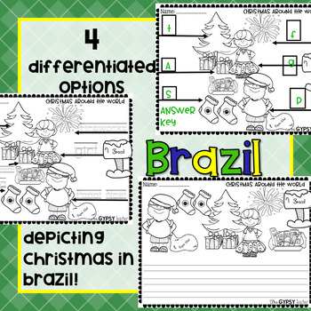 Christmas Around the World Label and Color - BRAZIL