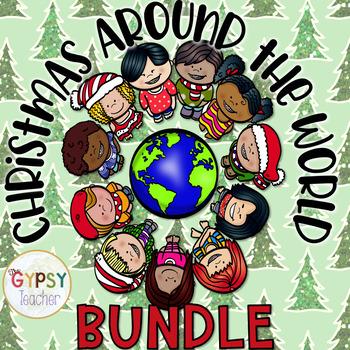 Christmas Around the World Activities - Writing Activities - 8 Countries- BUNDLE
