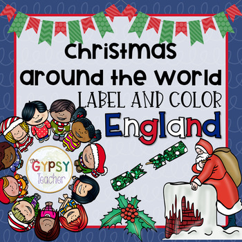 Christmas Around the World Label and Color - ENGLAND