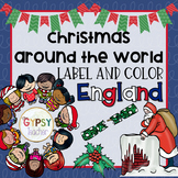 Christmas Around the World Label and Color - ENGLAND