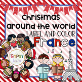 Christmas Around the World Label and Color - FRANCE