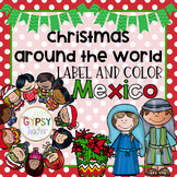 Christmas Around the World Label and Color - MEXICO