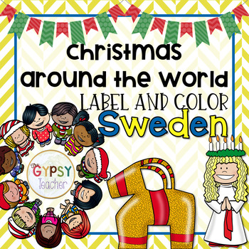 Christmas Around the World Label and Color - SWEDEN