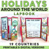 Holidays Around the World   Christmas Around the World Lapbook   Digital & Print