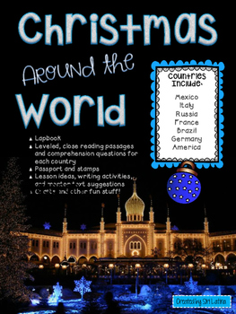 Christmas Around the World Lapbook and Close Reading Passages
