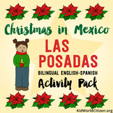 Christmas Around the World ~ Las Posadas English Activities & Bilingual Minibook