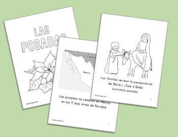 Christmas Around the World ~ Las Posadas Spanish Language Minibook