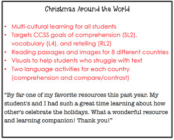 Around the World Listening Comprehension and Vocabulary