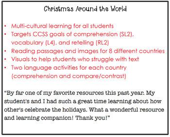 Christmas Around the World (Listening Comprehension and Vocabulary)