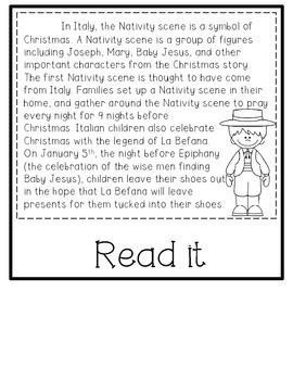Christmas Around the World Literacy Activities