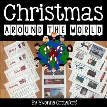 Christmas Around the World Literacy Activities Growing Endless Bundle