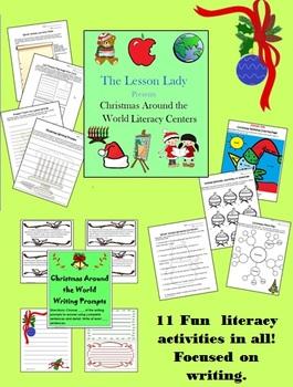 Christmas Around the World Math & Literacy Worksheet Packet