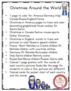 Christmas Around the World Mini Printable