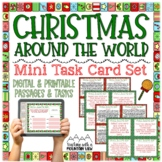 Christmas Around the World Mini Task Card Set