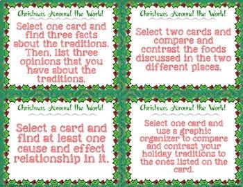 Christmas Around the World Mini Task Card Set