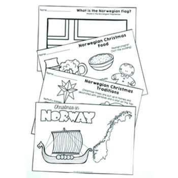 Christmas Around the World NORWAY Maps Flags Info Cards and Recipe