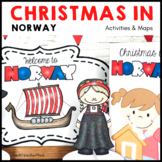Christmas Around the World NORWAY Maps Flags Info Cards an