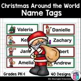 Christmas Around the World Name Tags - Editable