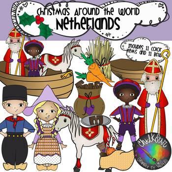 Christmas Around the World- Netherlands Clip Art
