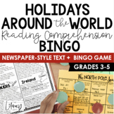Christmas Around the World Newspaper Bingo {Informational Text}