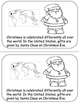 Christmas Around the World Nonfiction Book Close Activity