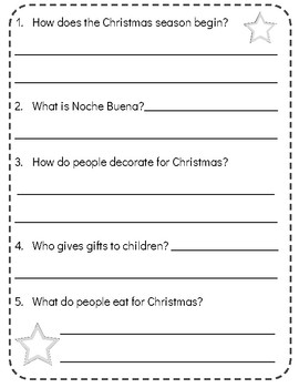 Christmas Around the World:PHILIPPINES!Reading Comprehension Passage, Questions!